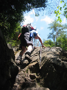 Bob goes up one steep section