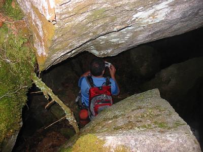 Bob goes cave exploring