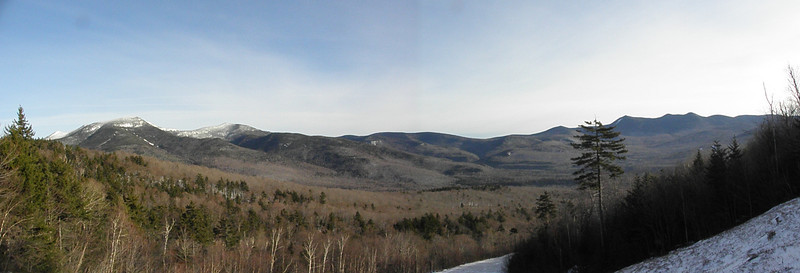 Panorama from the ski slope