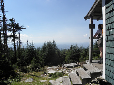 Enjoying the view from the Cabot Cabin