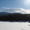 Lenticular clouds over Franconia Ridge