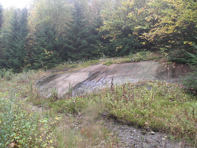 A slab beside the road