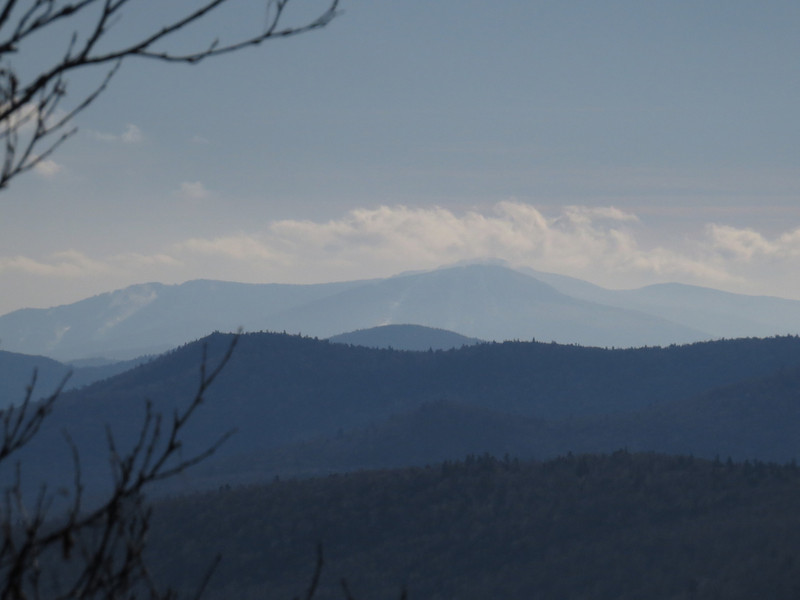 that would be Pico and Killington, the rounded hump of the peak near North Pond also showing