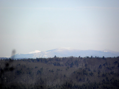 The mass of Sandwich Mountain in front, Trypiramids at right with the top of the south slide, Washington at left