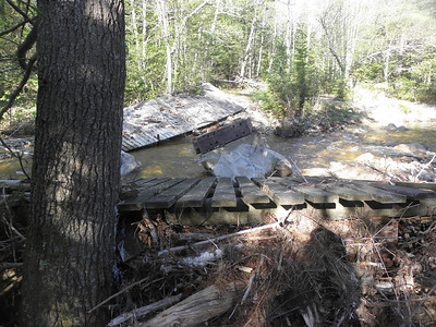 Ski trail bridge is indeed washed out