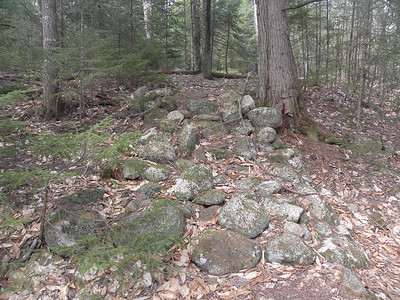Old rock steps, meets the current trail about 15 feet ahead