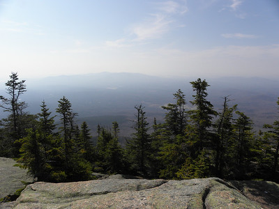 Very hazy Ossipees from the ledges