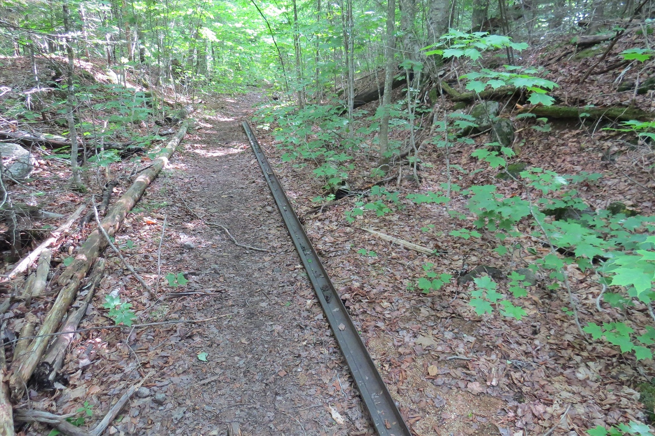 Old rail right after I hit the RR grade
