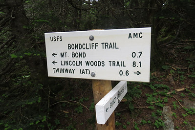 Most demoralizing sign ever, 8 1 miles to the trail, and more miles after that