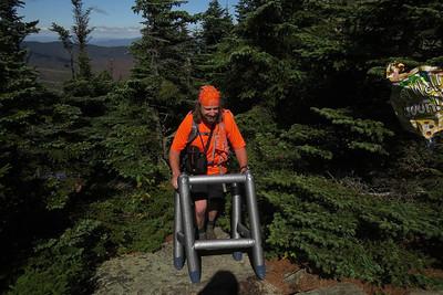Joe arriving at the summit