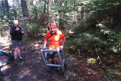 Joe likes his new hiking aid