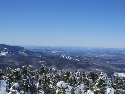 Rosebrook in front, way in the back, Camel's Hump at left, Mansfield at right, Hunger, Worcester and Dewey in the middle