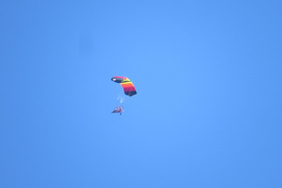 Paraglider getting some great views above the ridge