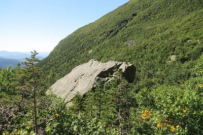 Large jutting rock