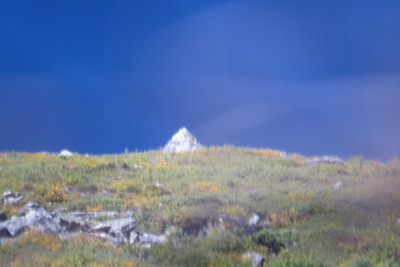 Bad picture, but a funky pyramid on the south buttress