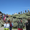 tourists and hikers waiting to get their summit shots. We bypassed the line, tagged the sign and went on our way.