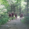moving up the Tuckerman Ravine Trail