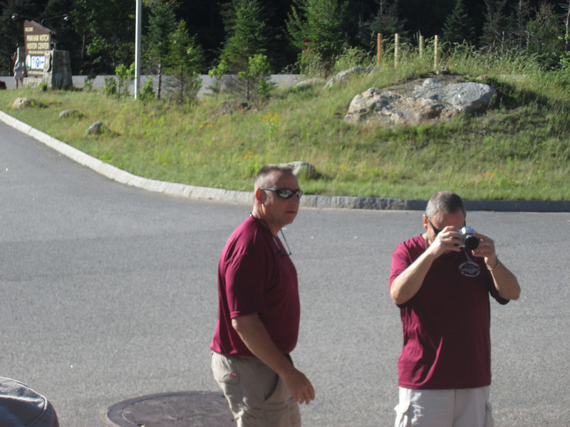 Ray inspecting the troops before the hike