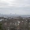 Hazy view into Boston