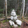 the summit cairn on Whiteface