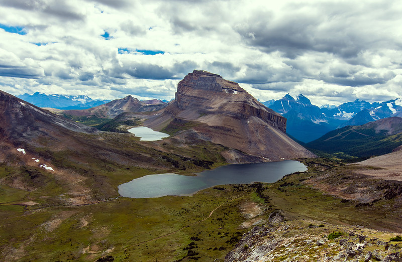 Redoubt Mountain and Ptarmigan Lake, Banff National Park