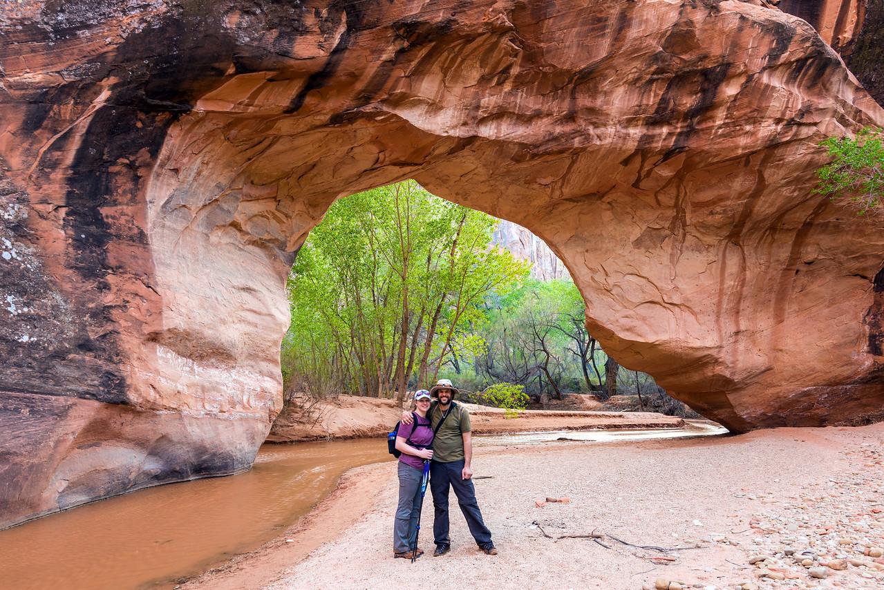 Family photo at Coyote Natural Bridge