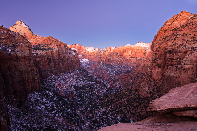 Predawn from Canyon Overlook, one last stop before we left the park