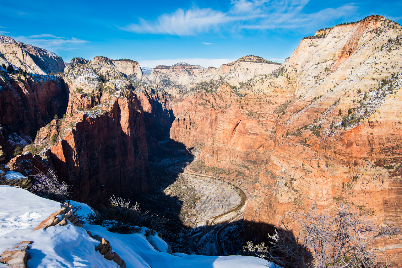 The iconic view up the valley from Angel's Landing