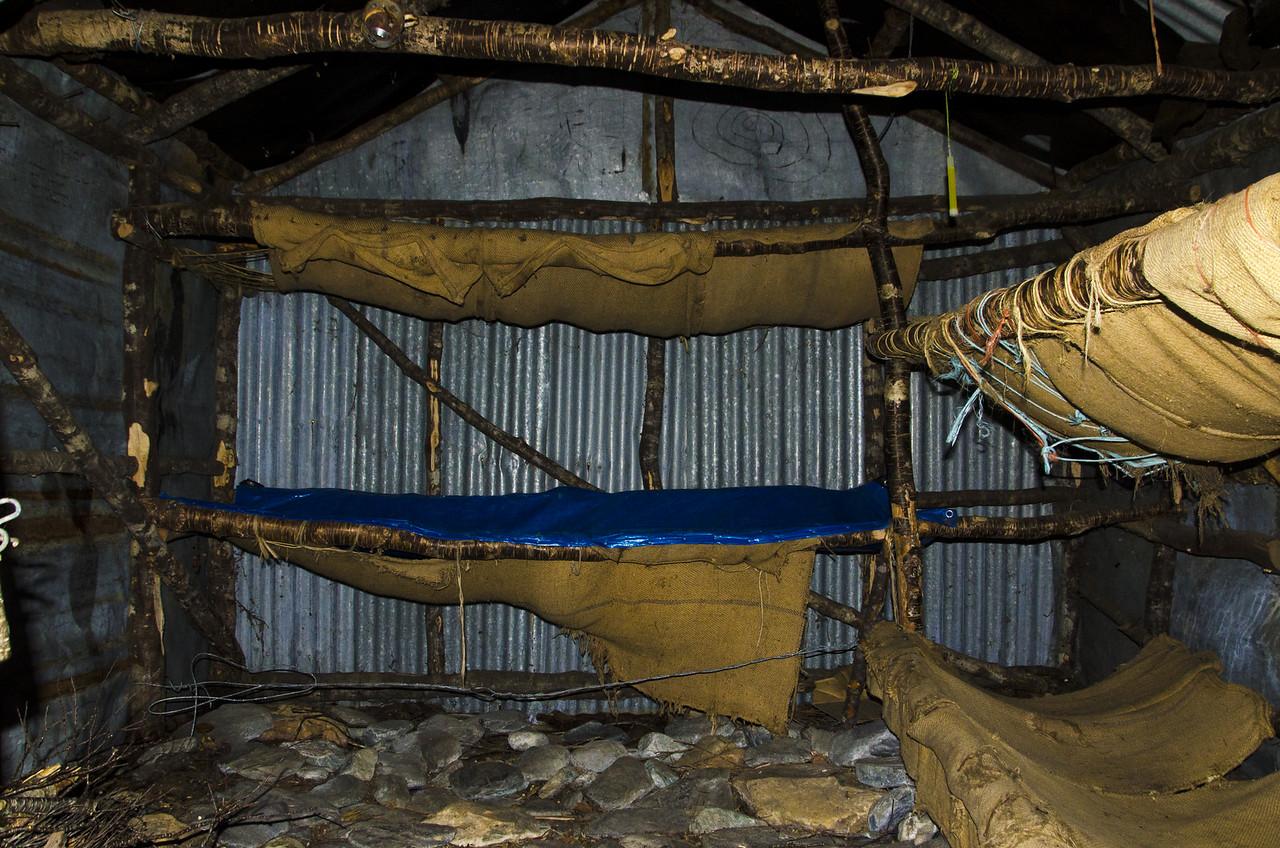 Inside the Kay Creek Hut