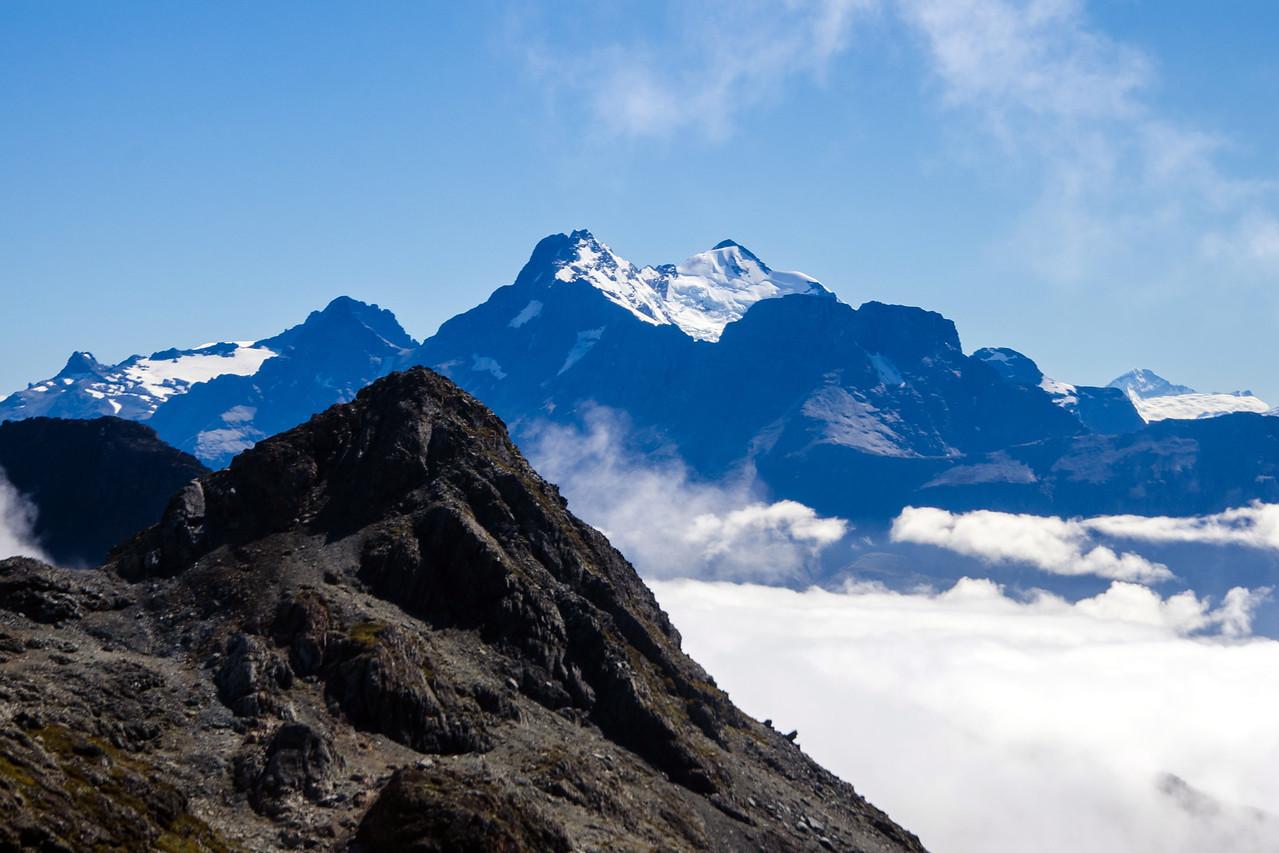 Mt Earnslaw and the impressive Earnslaw Glacier