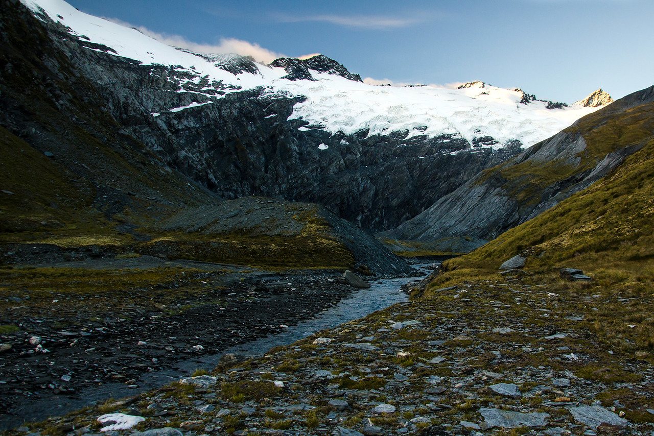 A nice view of the Tyndall Glacier.  Mt Tyndall summit is the rightmost peak on the skyline.