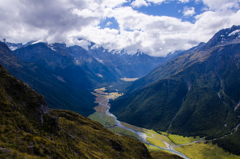 Looking up the West Matukituki Valley