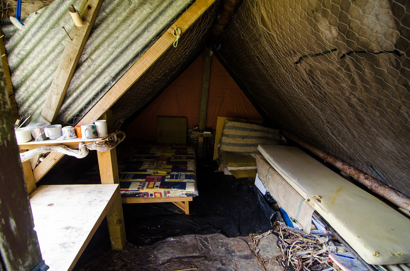 Inside Lochnagar Hut.