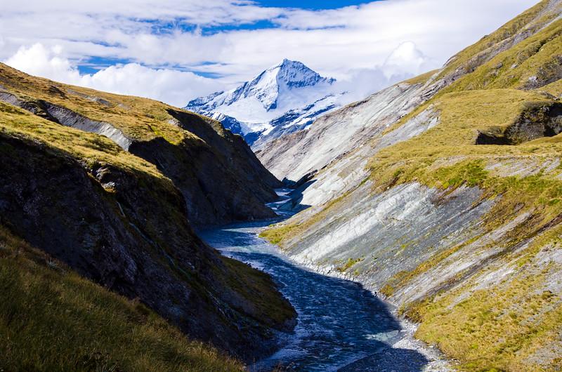 Mt Aspiring keeps watch over Cascade Creek
