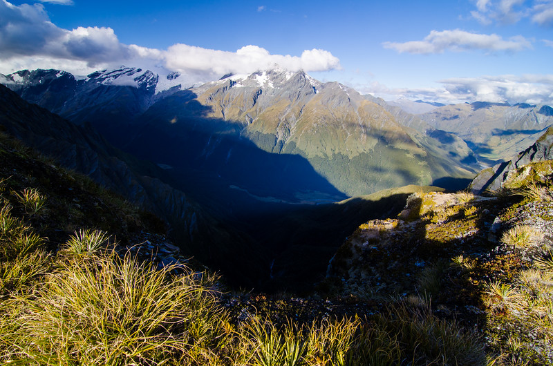 Rob Roy Peak and the West Matukituki from Heads Leap