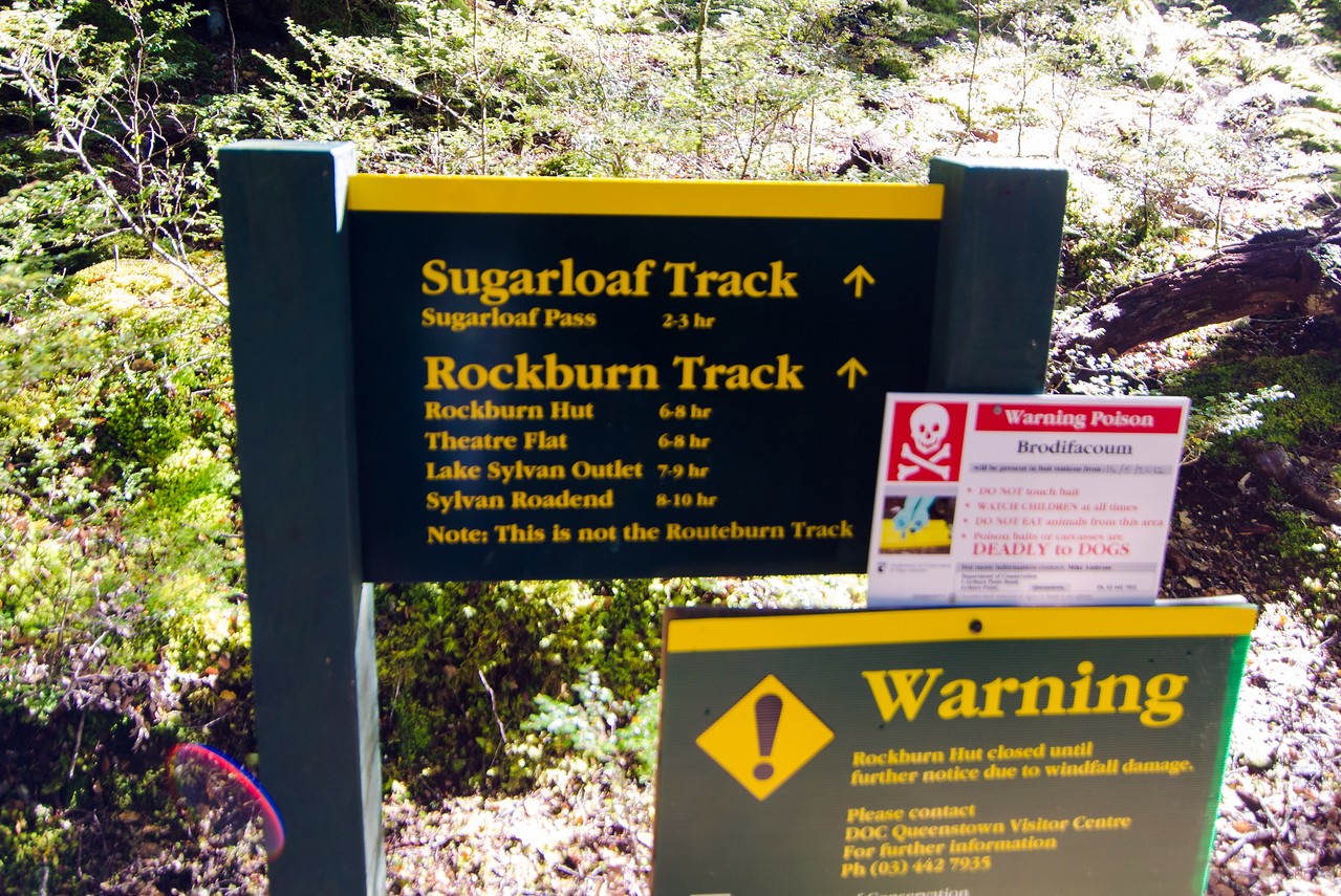 "So it begins.  ""Note: This is not the Routeburn Track."""