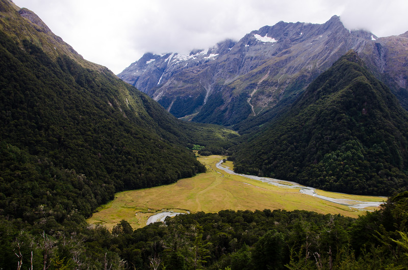Routeburn Flats and a short look back up the North Branch of the Routeburn