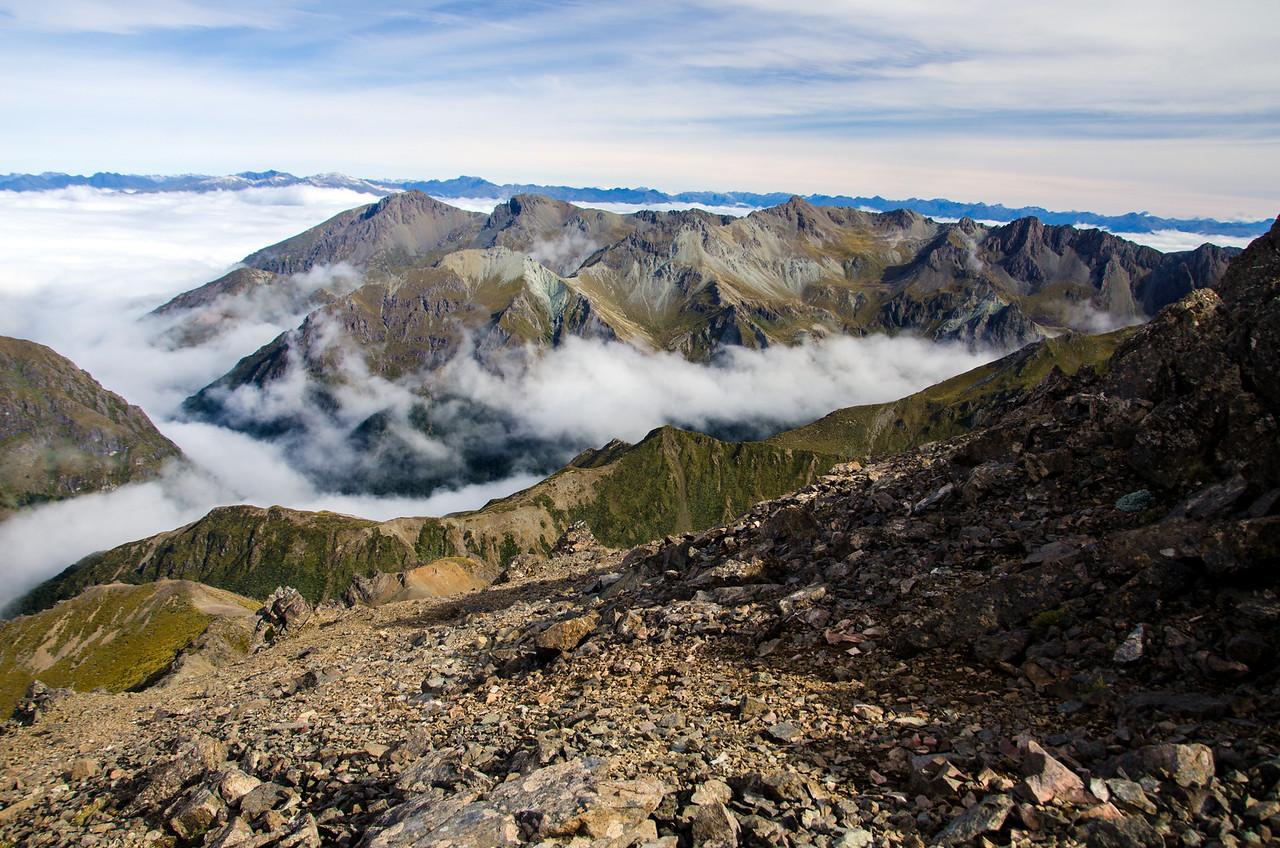 Near the summit of Spence Peak
