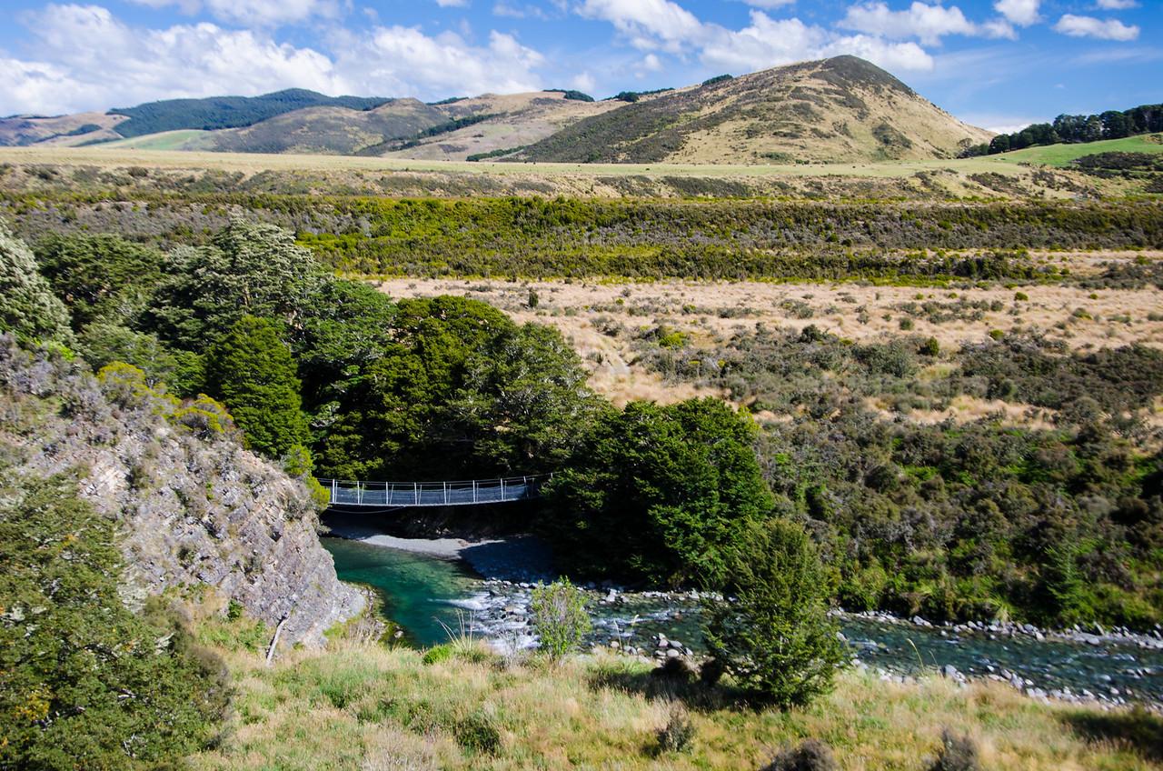 Swing bridge over  the Aparima River