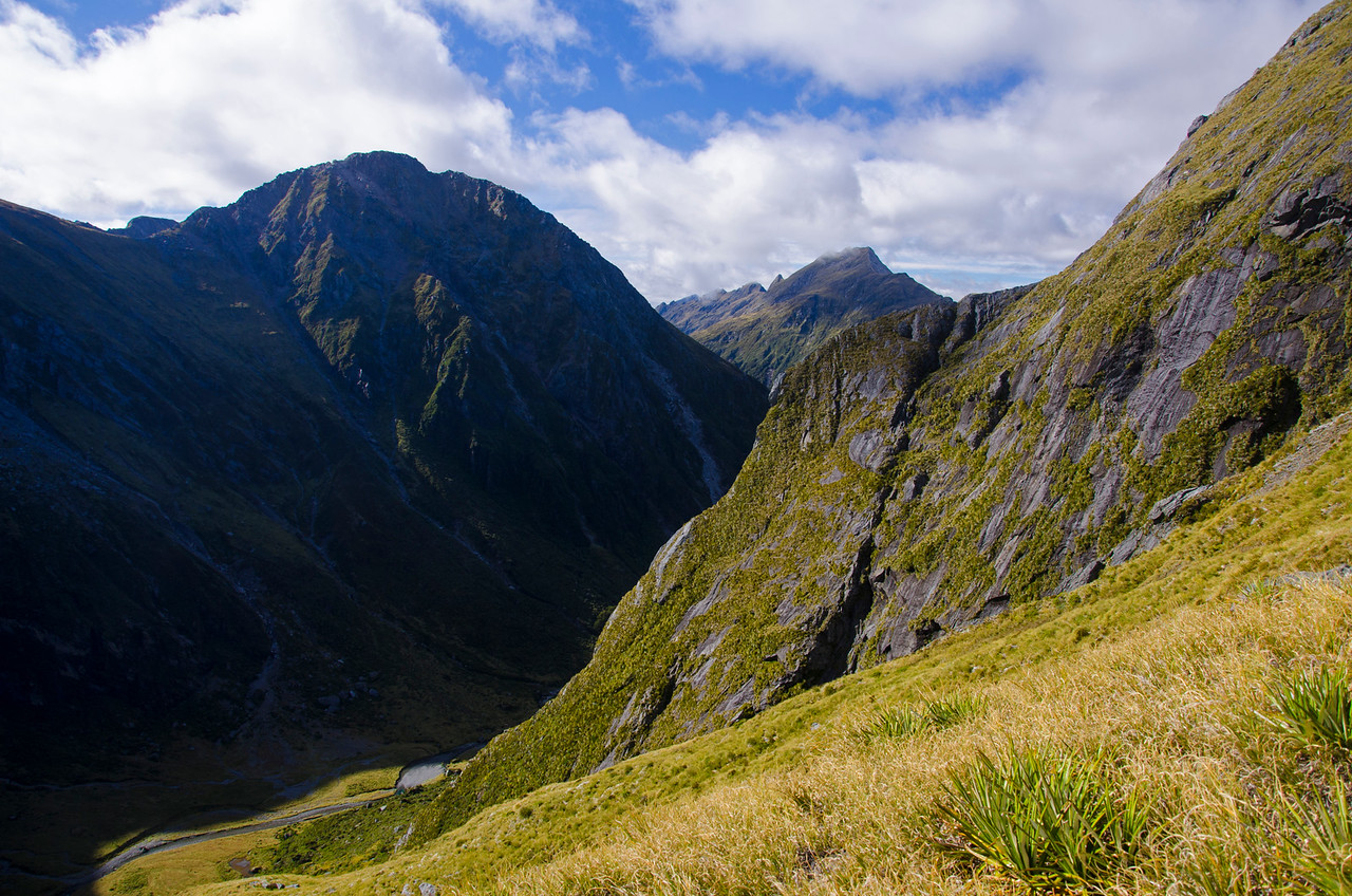 En route to Gillespie Pass.  New Zealand is full of terrain that looks a lot like this.
