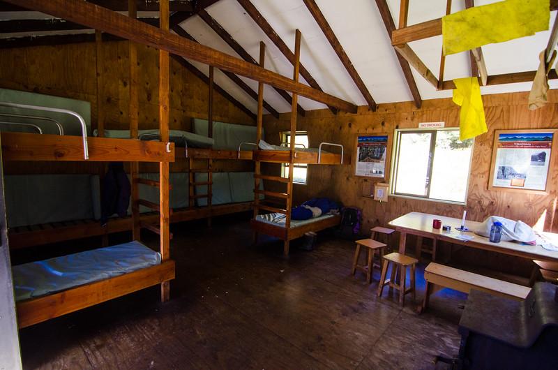 Inside Kerin Forks Hut
