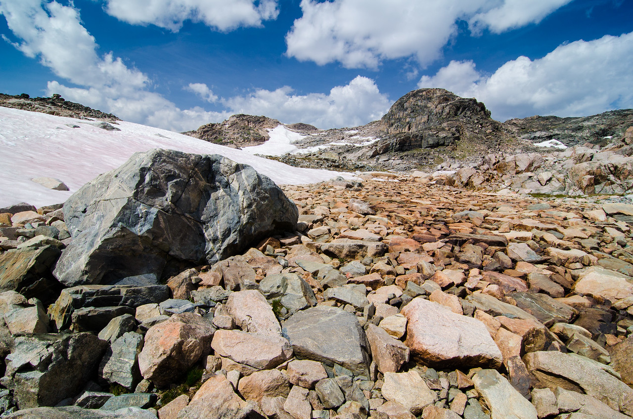 A quick look back up toward High Pass