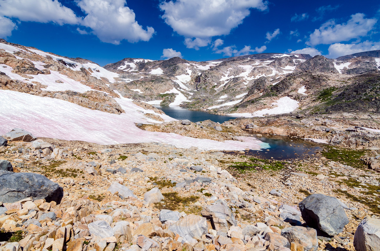 Looking back to Cladocera Lake while heading up and over to Erratic Lake