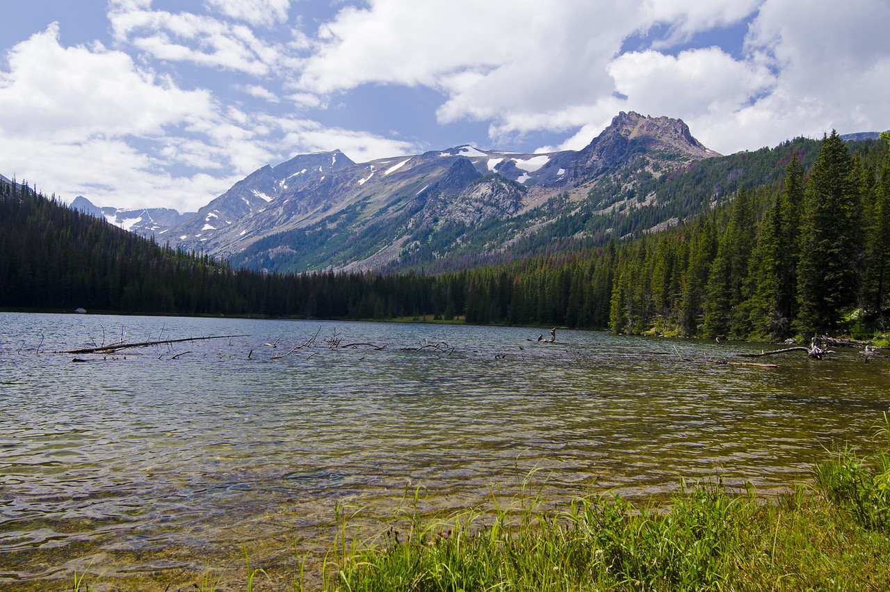 Keyser Brown Lake .  Time to leave the trail and head up the valley.