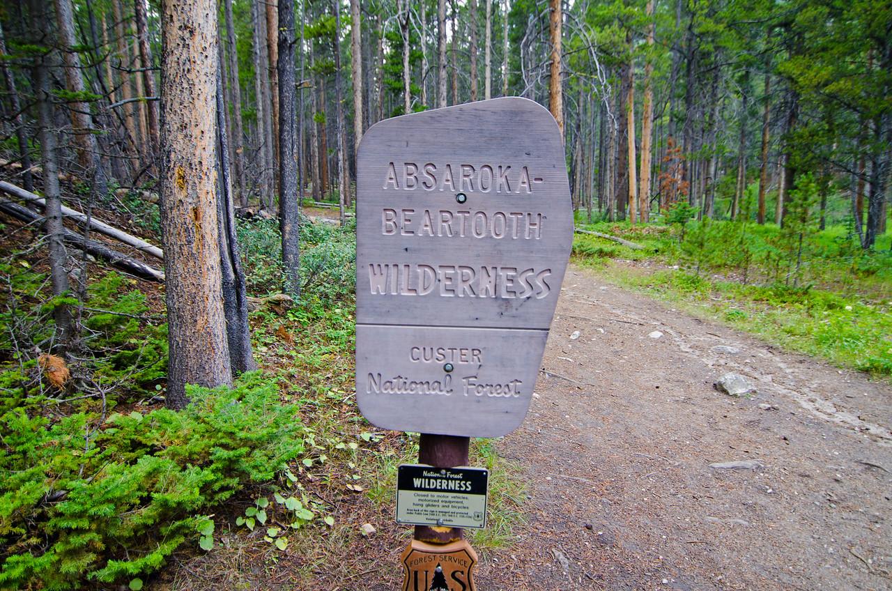 Absaroka-Beartooth Wilderness, my home for the next 8 days