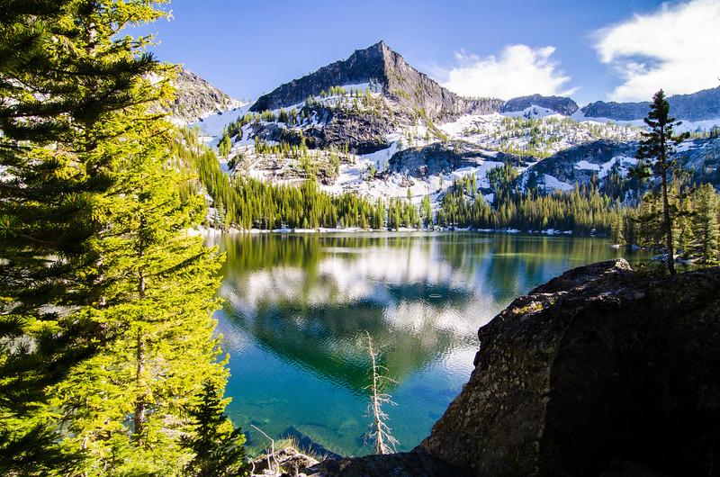 The Guardian rises above Canyon Lake