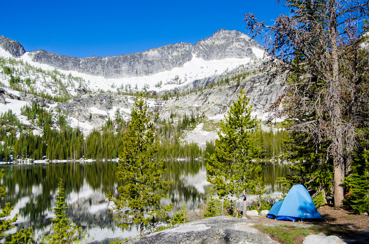 Canyon Peak and the little blue tent