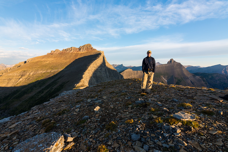 Steven atop Triple Divide Peak