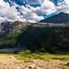 Medicine Grizzly Lake and Razoredge Mountain
