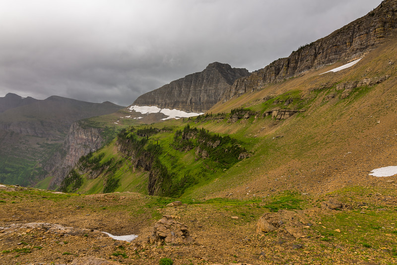 A little bit of weather rolling into the Triple DIvide Pass area